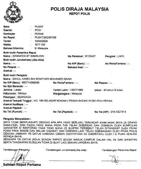 Report Polis 1